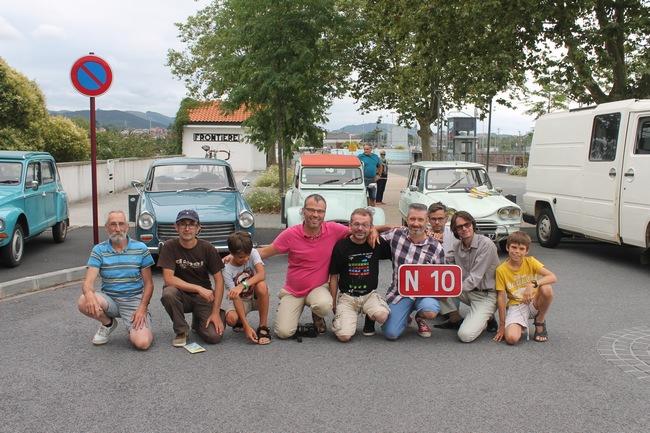 Fin du parcours au poste frontière d'Hendaye (64)