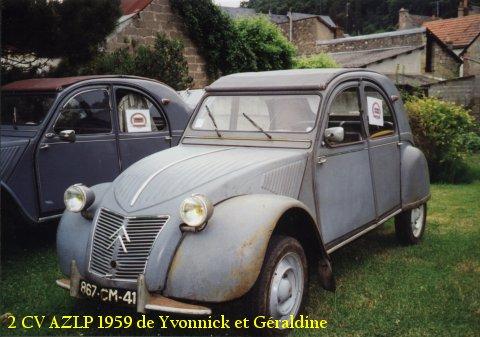 2cv azlp 1959 yvonnick geraldine